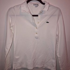 Lacoste Women's Shirt. White. Worn Once.